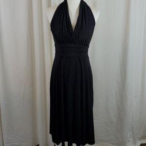 EVAN PICONE Black Halter Style Dress